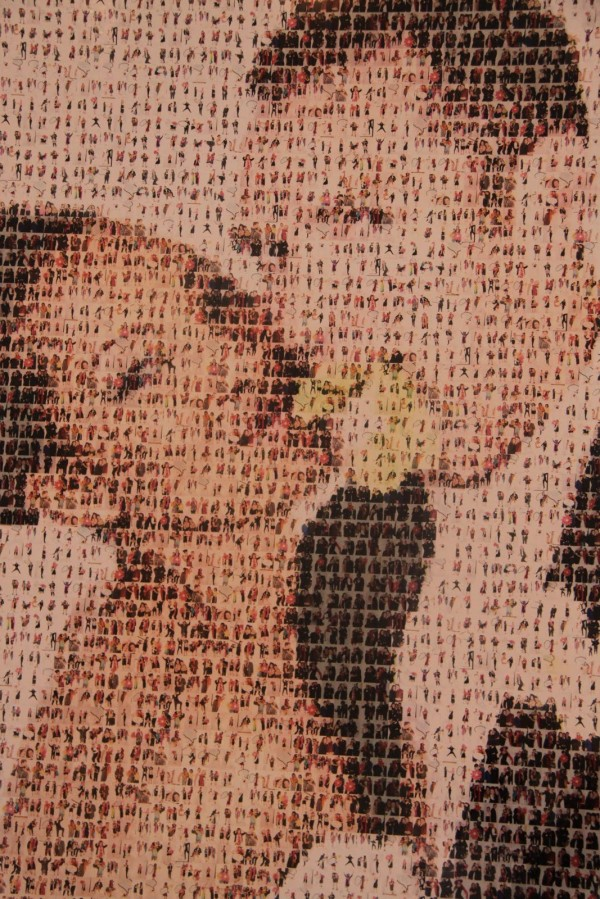 Mosaico -collage con las fotos de la boda