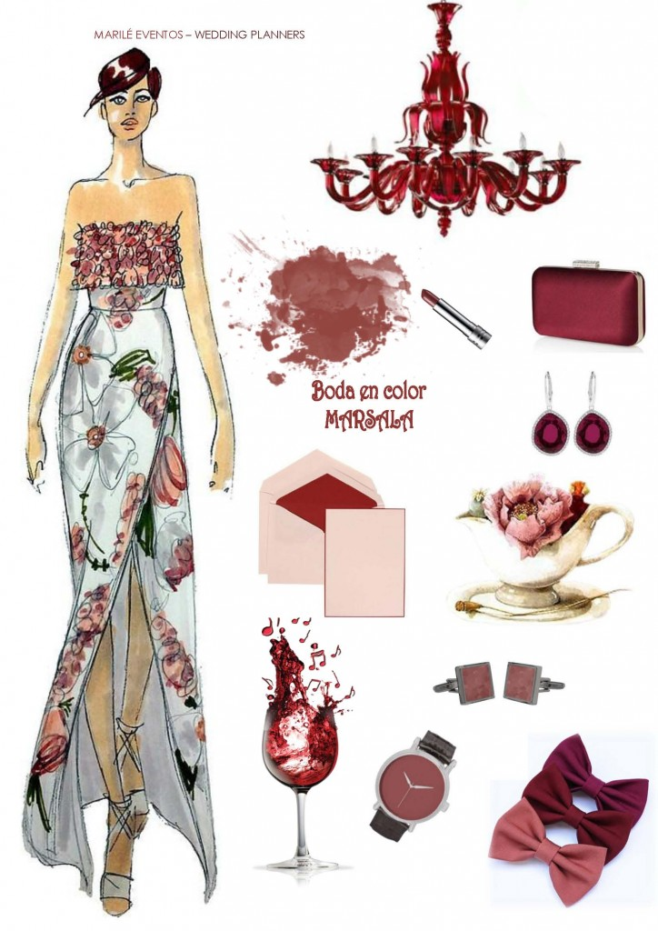 Marsala color  bodas 2015