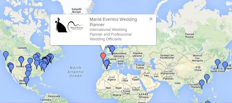 Mapa IAPWO . Marile eventos -wedding planner