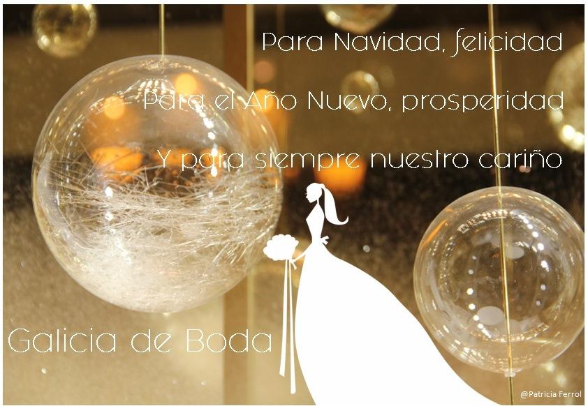 2 postal Navidad- Galicia de Boda